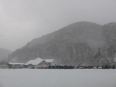 スノーボード田代駐車場