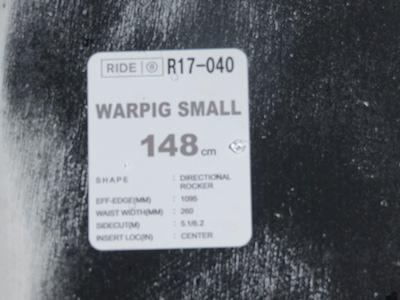 1RIDE WARPING SMALL