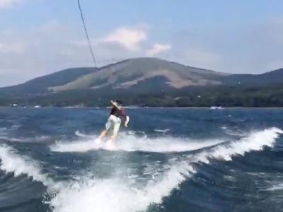 10山中湖ウェイクボード