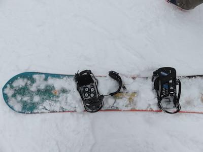 スノーボードビンディング調整
