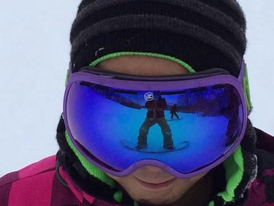 スノーボードニット帽おでこ